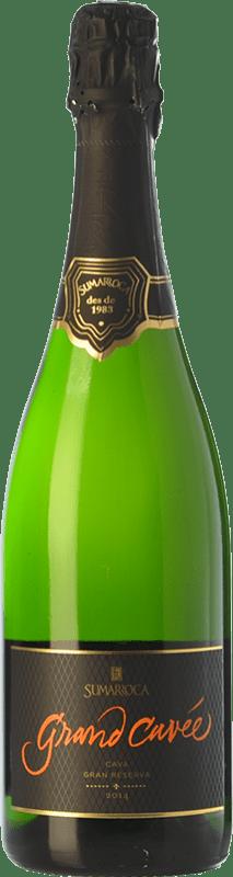 17,95 € Envoi gratuit | Blanc moussant Sumarroca Grand Cuvée Brut Nature D.O. Cava Catalogne Espagne Chardonnay, Parellada Bouteille 75 cl