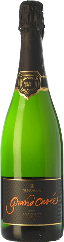 17,95 € Free Shipping | White sparkling Sumarroca Grand Cuvée Brut Nature D.O. Cava Catalonia Spain Chardonnay, Parellada Bottle 75 cl