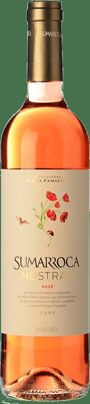 5,95 € Envoi gratuit | Vin rose Sumarroca Rosat Joven D.O. Penedès Catalogne Espagne Tempranillo, Merlot, Syrah Bouteille 75 cl