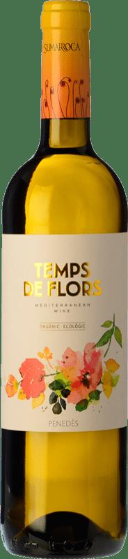 8,95 € Free Shipping | White wine Sumarroca Temps de Flors D.O. Penedès Catalonia Spain Xarel·lo, Gewürztraminer, Muscatel Small Grain Bottle 75 cl