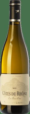 13,95 € Free Shipping | White wine Tardieu-Laurent Les Becs Fins Blanc A.O.C. Côtes du Rhône Rhône France Grenache White, Roussanne, Viognier, Clairette Blanche Bottle 75 cl