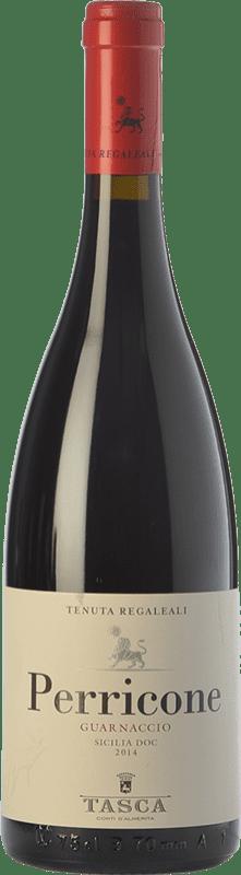 9,95 € Free Shipping | Red wine Tasca d'Almerita Guarnaccio I.G.T. Terre Siciliane Sicily Italy Perricone Bottle 75 cl