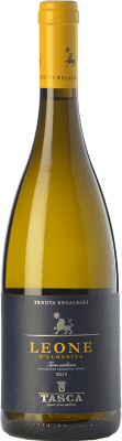 13,95 € Envío gratis | Vino blanco Tasca d'Almerita Leone I.G.T. Terre Siciliane Sicilia Italia Gewürztraminer, Pinot Blanco, Sauvignon, Catarratto Botella 75 cl