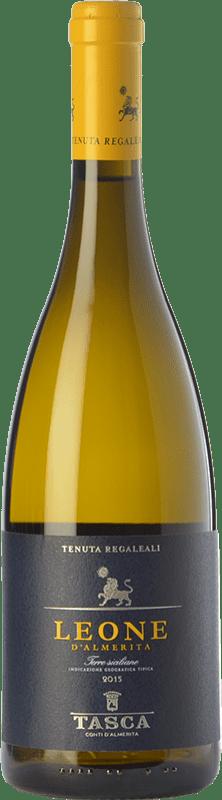 13,95 € Free Shipping | White wine Tasca d'Almerita Leone I.G.T. Terre Siciliane Sicily Italy Gewürztraminer, Pinot White, Sauvignon, Catarratto Bottle 75 cl