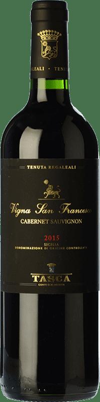 42,95 € Envío gratis | Vino tinto Tasca d'Almerita I.G.T. Terre Siciliane Sicilia Italia Cabernet Sauvignon Botella 75 cl