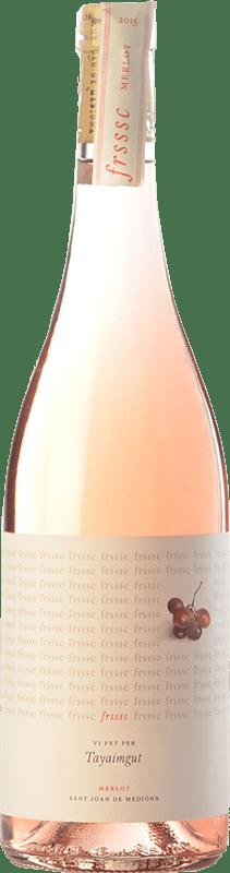 7,95 € Envoi gratuit | Vin rose Tayaimgut Fresc Rosat D.O. Penedès Catalogne Espagne Merlot Bouteille 75 cl