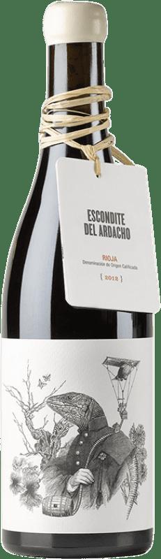 28,95 € Free Shipping | Red wine Tentenublo Escondite del Ardacho El Abundillano Joven D.O.Ca. Rioja The Rioja Spain Tempranillo, Grenache, Viura, Malvasía Bottle 75 cl