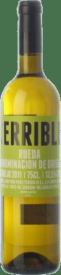 9,95 € Envío gratis | Vino blanco Terrible D.O. Rueda Castilla y León España Verdejo Botella 75 cl