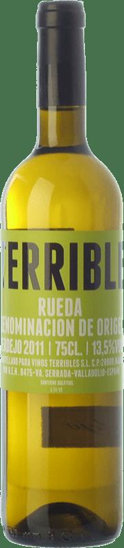 10,95 € Free Shipping | White wine Terrible D.O. Rueda Castilla y León Spain Verdejo Bottle 75 cl