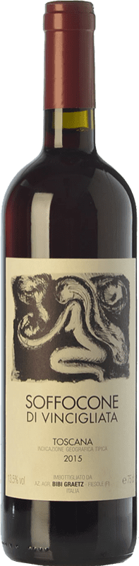 28,95 € Free Shipping | Red wine Bibi Graetz Soffocone di Vincigliata I.G.T. Toscana Tuscany Italy Sangiovese, Colorino, Canaiolo Bottle 75 cl