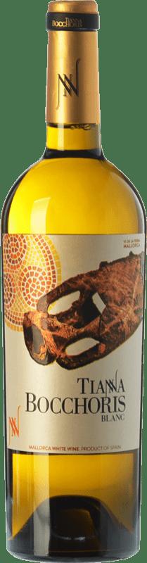 15,95 € Envío gratis | Vino blanco Tianna Negre Bocchoris Blanc Crianza I.G.P. Vi de la Terra de Mallorca Islas Baleares España Sauvignon Blanca, Premsal, Giró Ros Botella 75 cl