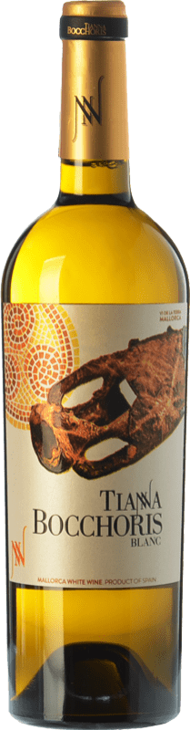 15,95 € Free Shipping | White wine Tianna Negre Bocchoris Blanc Crianza I.G.P. Vi de la Terra de Mallorca Balearic Islands Spain Sauvignon White, Premsal, Giró Ros Bottle 75 cl