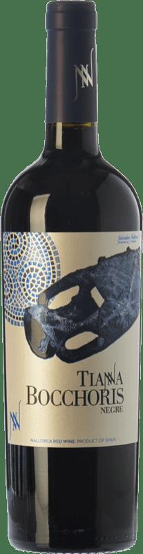 14,95 € Free Shipping | Red wine Tianna Negre Bocchoris Negre Joven D.O. Binissalem Balearic Islands Spain Merlot, Syrah, Cabernet Sauvignon, Callet, Mantonegro Bottle 75 cl