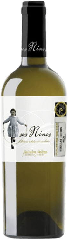 14,95 € Envío gratis | Vino blanco Tianna Negre Ses Nines Blanc Selecció 07/9 Crianza D.O. Binissalem Islas Baleares España Chardonnay, Moscatel Grano Menudo, Premsal Botella 75 cl
