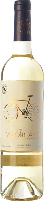14,95 € Envío gratis | Vino blanco Tianna Negre Ses Nines Vélo Blanc Ecològic D.O. Binissalem Islas Baleares España Mantonegro, Premsal Botella 75 cl