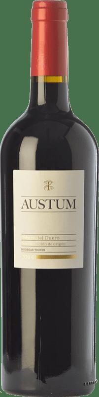 8,95 € Envoi gratuit | Vin rouge Tionio Austum Joven D.O. Ribera del Duero Castille et Leon Espagne Tempranillo Bouteille 75 cl