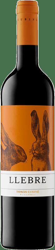 7,95 € Free Shipping | Red wine Tomàs Cusiné Llebre Joven D.O. Costers del Segre Catalonia Spain Tempranillo, Merlot, Syrah, Grenache, Cabernet Sauvignon, Carignan Bottle 75 cl