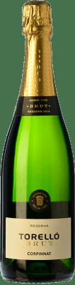 16,95 € Free Shipping | White sparkling Torelló Brut Reserva D.O. Cava Catalonia Spain Macabeo, Xarel·lo, Parellada Bottle 75 cl
