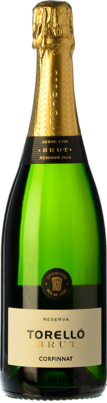 13,95 € Free Shipping | White sparkling Torelló Brut Reserva D.O. Cava Catalonia Spain Macabeo, Xarel·lo, Parellada Bottle 75 cl
