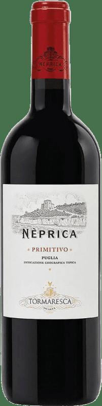 7,95 € Envío gratis | Vino tinto Tormaresca Neprica I.G.T. Puglia Puglia Italia Cabernet Sauvignon, Primitivo, Negroamaro Botella 75 cl