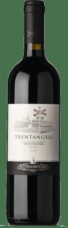 15,95 € Free Shipping | Red wine Tormaresca Rosso Trentangeli D.O.C. Castel del Monte Puglia Italy Syrah, Cabernet Sauvignon, Aglianico Bottle 75 cl