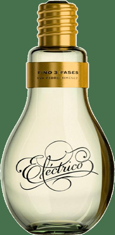 18,95 € Free Shipping | Fortified wine Toro Albalá Fino Eléctrico Bombilla D.O. Montilla-Moriles Andalusia Spain Pedro Ximénez Bottle 75 cl