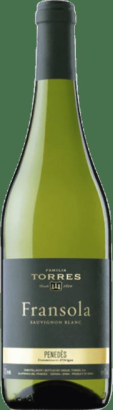 21,95 € Envío gratis | Vino blanco Torres Fransola Crianza D.O. Penedès Cataluña España Sauvignon Blanca, Parellada Botella 75 cl
