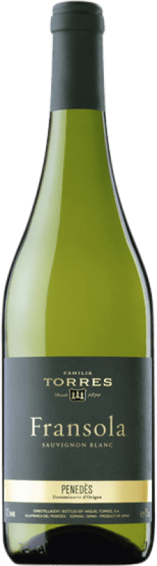 24,95 € Free Shipping | White wine Torres Fransola Crianza D.O. Penedès Catalonia Spain Sauvignon White, Parellada Bottle 75 cl