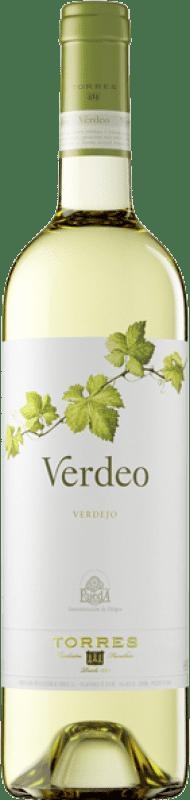 9,95 € Free Shipping | White wine Torres Verdeo D.O. Rueda Castilla y León Spain Verdejo Bottle 75 cl