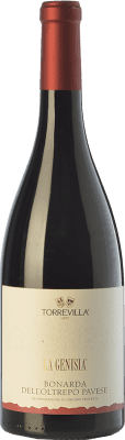 8,95 € Free Shipping | Red sparkling Torrevilla La Genisia Bonarda Frizzante D.O.C. Oltrepò Pavese Lombardia Italy Croatina Bottle 75 cl