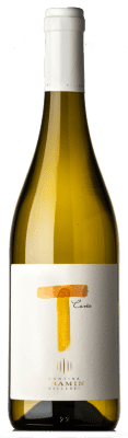 9,95 € Free Shipping | White wine Tramin T Bianco I.G.T. Vigneti delle Dolomiti Trentino Italy Chardonnay, Riesling, Pinot White, Sauvignon Bottle 75 cl