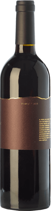 24,95 € Envío gratis | Vino tinto Trossos del Priorat Lo Mon Crianza D.O.Ca. Priorat Cataluña España Syrah, Garnacha, Cabernet Sauvignon, Cariñena Botella 75 cl