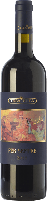 184,95 € Free Shipping | Red wine Tua Rita Per Sempre I.G.T. Toscana Tuscany Italy Syrah Bottle 75 cl