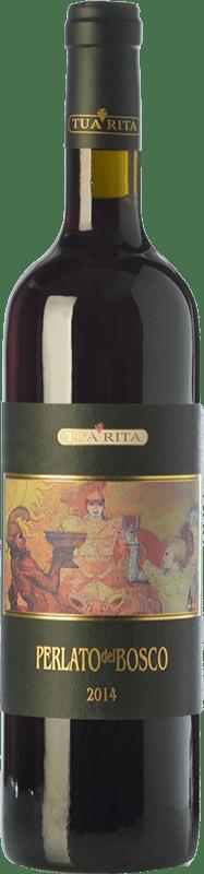 24,95 € Free Shipping | Red wine Tua Rita Perlato del Bosco I.G.T. Toscana Tuscany Italy Sangiovese Bottle 75 cl