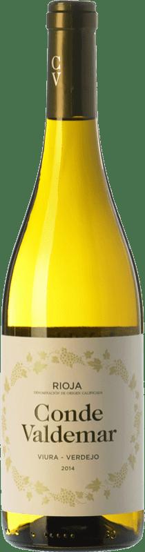 6,95 € Envío gratis | Vino blanco Valdemar Conde de Valdemar Viura-Verdejo Joven D.O.Ca. Rioja La Rioja España Viura, Verdejo Botella 75 cl