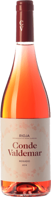 6,95 € Kostenloser Versand | Rosé-Wein Valdemar Conde de Valdemar Joven D.O.Ca. Rioja La Rioja Spanien Tempranillo, Grenache Flasche 75 cl