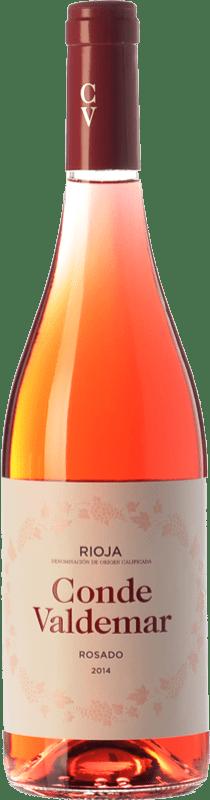 6,95 € Envío gratis | Vino rosado Valdemar Conde de Valdemar Joven D.O.Ca. Rioja La Rioja España Tempranillo, Garnacha Botella 75 cl