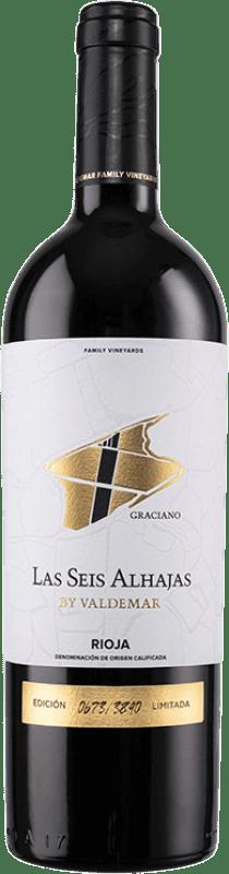 16,95 € Envío gratis | Vino tinto Valdemar Inspiración Las Seis Alhajas Reserva D.O.Ca. Rioja La Rioja España Graciano Botella 75 cl
