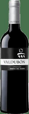 14,95 € Free Shipping | Red wine Valdubón Crianza D.O. Ribera del Duero Castilla y León Spain Tempranillo Bottle 75 cl