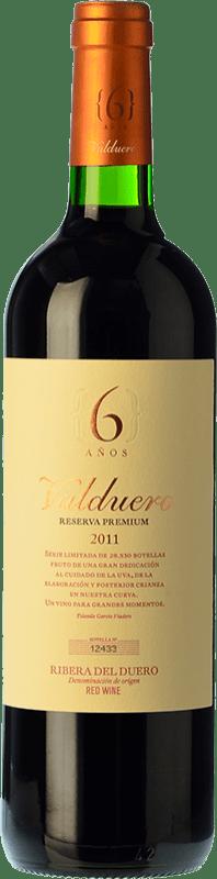 59,95 € Envío gratis | Vino tinto Valduero 6 Años Premium Reserva 2010 D.O. Ribera del Duero Castilla y León España Tempranillo Botella 75 cl
