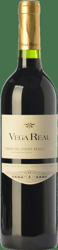 13,95 € Envío gratis | Vino tinto Vega Real Reserva D.O. Ribera del Duero Castilla y León España Tempranillo, Cabernet Sauvignon Botella 75 cl