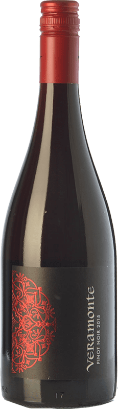 10,95 € Free Shipping | Red wine Veramonte Crianza I.G. Valle Central Central Valley Chile Pinot Black Bottle 75 cl