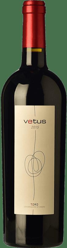 15,95 € Spedizione Gratuita | Vino rosso Vetus Crianza D.O. Toro Castilla y León Spagna Tinta de Toro Bottiglia 75 cl