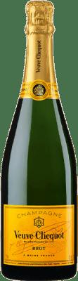 45,95 € Kostenloser Versand | Weißer Sekt Veuve Clicquot Carte Jaune Brut A.O.C. Champagne Champagner Frankreich Chardonnay, Pinot Meunier Flasche 75 cl