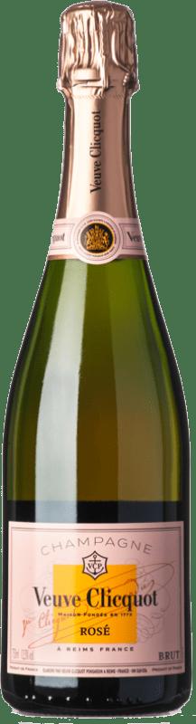 65,95 € Envoi gratuit | Rosé moussant Veuve Clicquot Rosé Brut A.O.C. Champagne Champagne France Pinot Noir, Chardonnay, Pinot Meunier Bouteille 75 cl