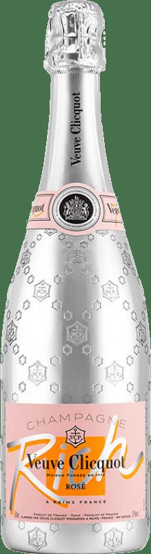72,95 € Envoi gratuit | Rosé moussant Veuve Clicquot Rich Rosé A.O.C. Champagne Champagne France Pinot Noir, Chardonnay, Pinot Meunier Bouteille 75 cl