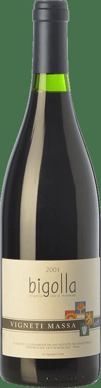 57,95 € Free Shipping | Red wine Vigneti Massa Bigolla 2001 D.O.C. Colli Tortonesi Piemonte Italy Bacca Red Bottle 75 cl