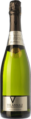 7,95 € Free Shipping | White sparkling Vilarnau Brut Reserva D.O. Cava Catalonia Spain Macabeo, Xarel·lo, Parellada Bottle 75 cl | Thousands of wine lovers trust us to get the best price guarantee, free shipping always and hassle-free shopping and returns.