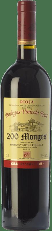 54,95 € Envoi gratuit | Vin rouge Vinícola Real 200 Monges Gran Reserva 2005 D.O.Ca. Rioja La Rioja Espagne Tempranillo, Graciano, Mazuelo Bouteille 75 cl