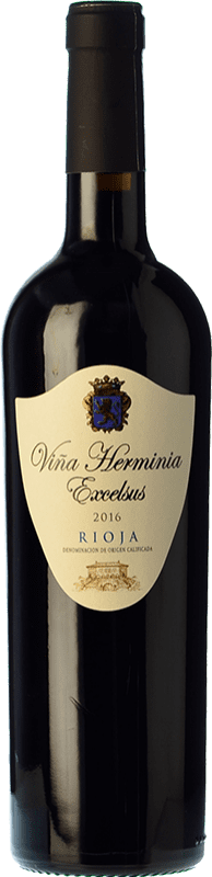 6,95 € Envoi gratuit | Vin rouge Viña Herminia Excelsus Joven D.O.Ca. Rioja La Rioja Espagne Tempranillo, Grenache Bouteille 75 cl